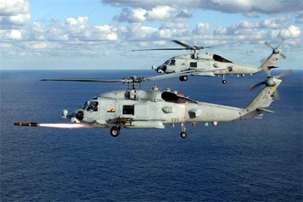 Indian Navy MH-60R operating with MH-60R maiden flight